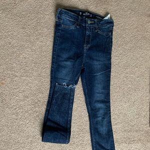 00R plain skinny jeans dark wash
